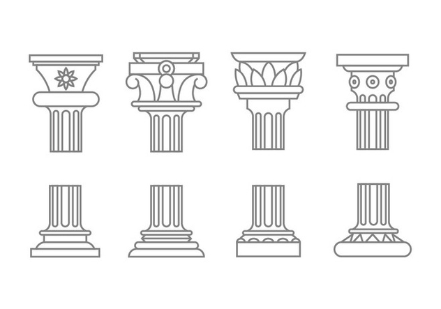 Roman column icons - Free vector #444505
