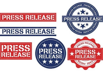 Press release stamp vector - vector gratuit #444515