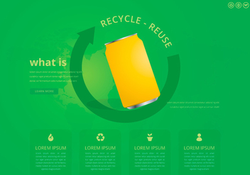 Recycle and Reuse Tin Box and Other Garbage - vector #444555 gratis