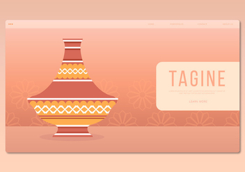 Tajine Moroccan Traditional Food Illustration. Web Template. - vector gratuit #444565