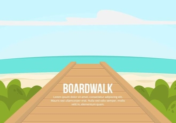 Boardwalk Illustration - бесплатный vector #444575
