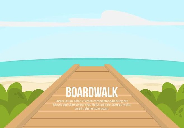 Boardwalk Illustration - vector gratuit #444575