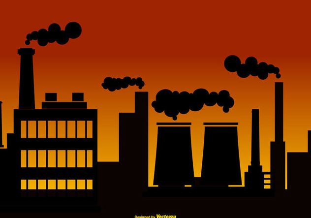 Smoke Stack Background Illustration - vector #444595 gratis