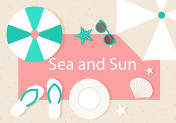 Free Vector Summer Illustration - Kostenloses vector #444605