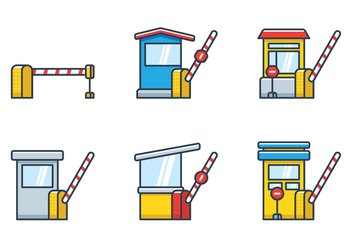 Toll Booth Icon - vector #444615 gratis