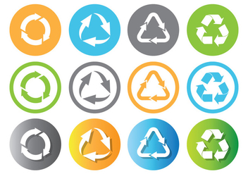 Recycle Icon - Kostenloses vector #444625