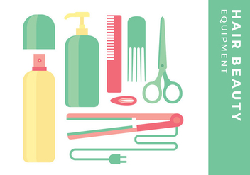 Hair Beauty Equipment Free Vector - бесплатный vector #444635