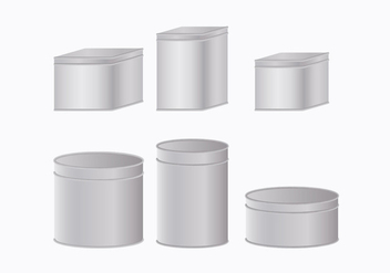 Tin Box Collection - Free vector #444645