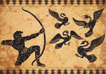 Ancient Hercules Vector Background - бесплатный vector #444655