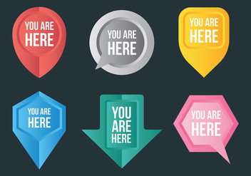 Free You Are Here Icons Vector - бесплатный vector #444675