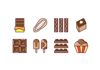 Free Chocolate Icon Set - vector gratuit #444695
