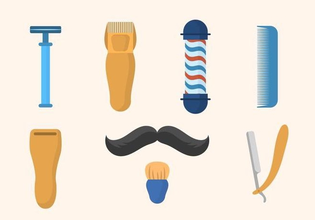Flat Barber Shop Vectors - Free vector #444785