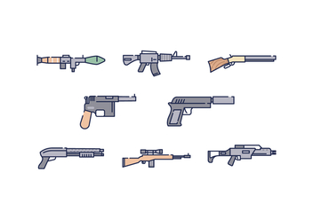 Free Weapon Icons - vector #444815 gratis