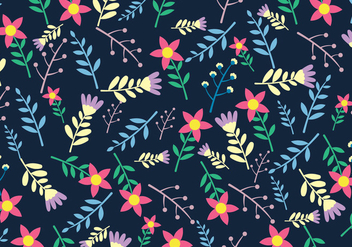Ditsy Floral Seamless Pattern - Free vector #444955