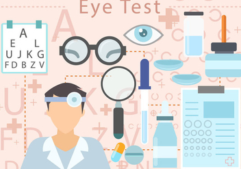 Eye Test Vector - Free vector #444995