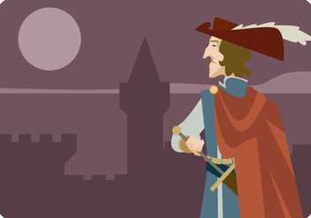 Musketeer in The Castle Vector - бесплатный vector #445005