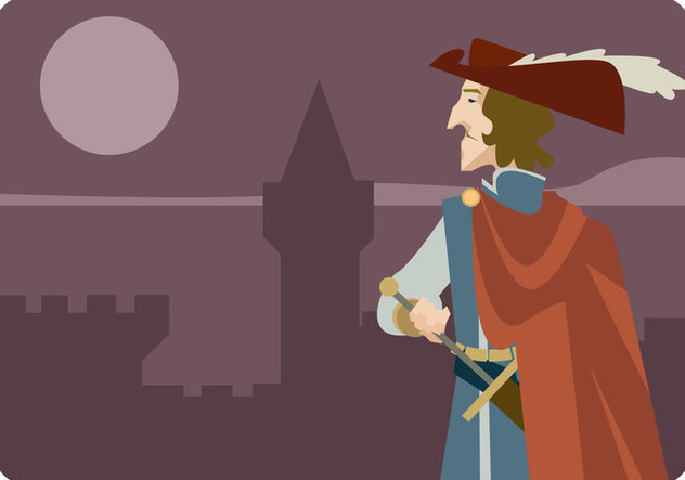 Musketeer in The Castle Vector - Free vector #445005