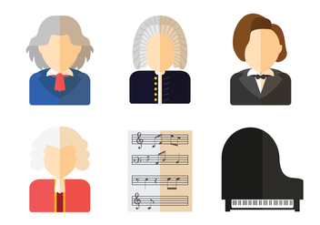 Great Composer Vector - Kostenloses vector #445015