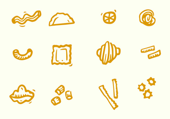 Various Pasta Icon - vector #445055 gratis