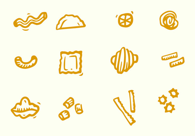 Various Pasta Icon - Free vector #445055