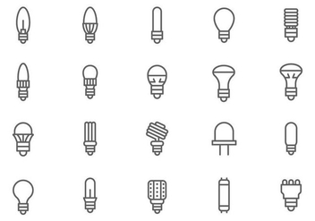 Free LED Lights Vectors - vector gratuit #445075