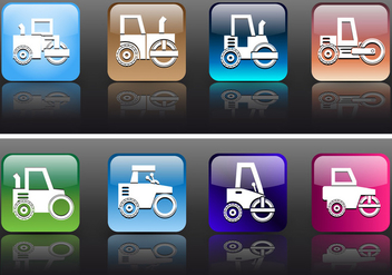 Icon App Style Road Roller and Construction Vectors - бесплатный vector #445155