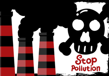 Stop Pollution Air Background Vector - Free vector #445175