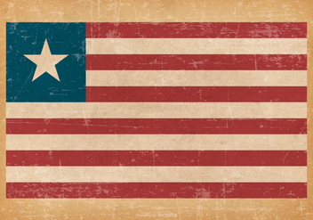 Grunge Flag of Liberia - vector gratuit #445205