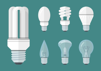 Led Lights Vector Collection - vector gratuit #445215