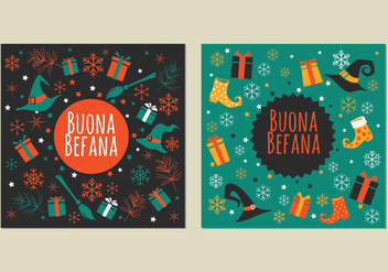 Illustration of Strega with Gift Box for Befana Celebration - Free vector #445225