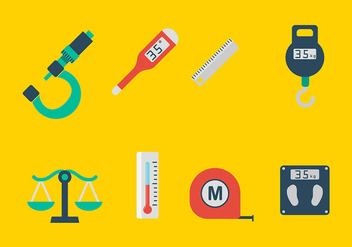 Measuring Tools Icons Vector - vector #445235 gratis