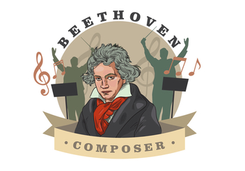 Beethoven Vector Illustration - vector #445295 gratis