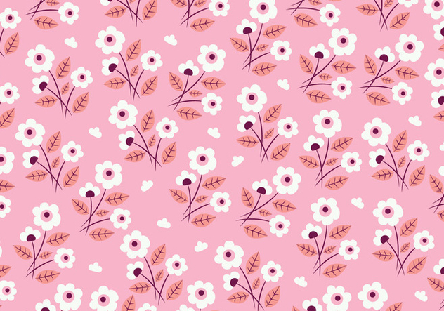 Floral Seamless Pattern - vector gratuit #445315