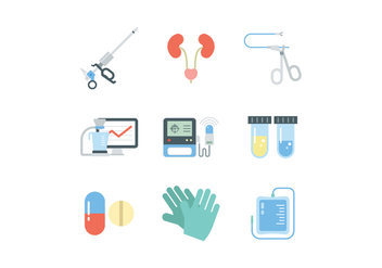 Urology Icon Set - бесплатный vector #445335