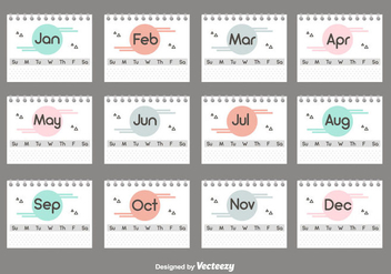 Desktop Calendar Set - vector gratuit #445355