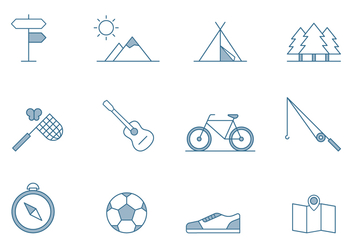 Outdoor Activities Icons - vector gratuit #445405