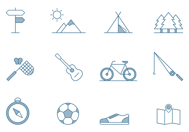Outdoor Activities Icons - vector #445405 gratis