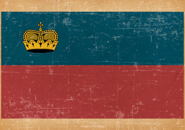 Grunge Flag of Liechtenstein - бесплатный vector #445485