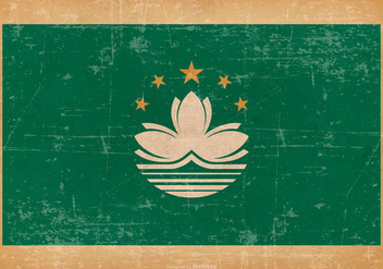 Grunge Flag of Macau - Free vector #445515