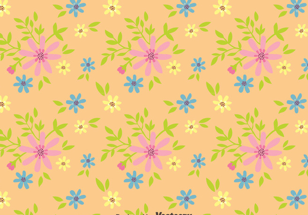 Ditsy Floral Seamless Pattern Vector - vector gratuit #445605