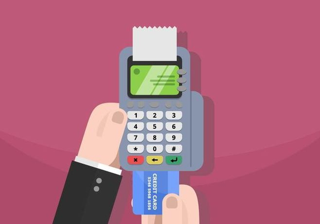 Card Reader Illustration - vector #445615 gratis