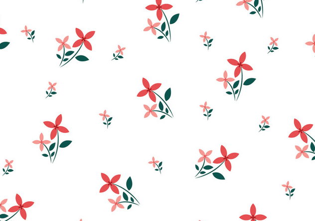 Floral Seamless Pattern - vector gratuit #445635