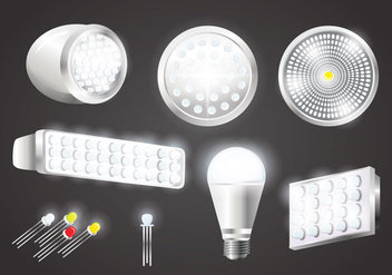 Realistic LED Lights Vectors - vector gratuit #445705