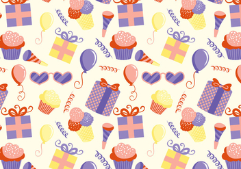 Free Kids Party Pattern Vectors - vector gratuit #445725