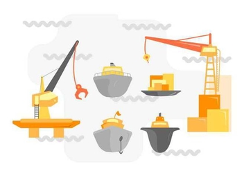 Free Unique Shipyard Vectors - бесплатный vector #445755