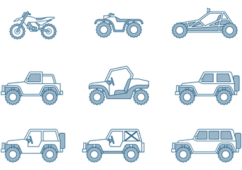 Off-road Vehicle Icons - vector #445775 gratis