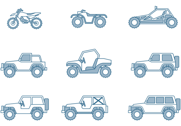 Off-road Vehicle Icons - Free vector #445775