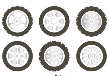 Alloy Wheels Collection Vector - vector #445805 gratis