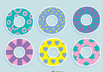 Colorful Water Innertube Vectors - Free vector #445815