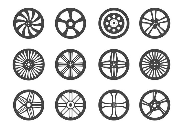 Alloy Wheels Vector - Free vector #445845